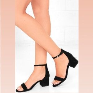 Steve Madden Irenee Black Suede Sandal Heels
